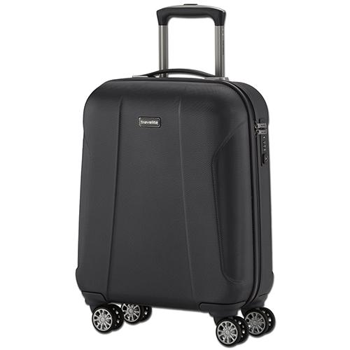 Черного цвета чемодан 55x40х20см Travelite Elbe Two размера ручной клади, фото