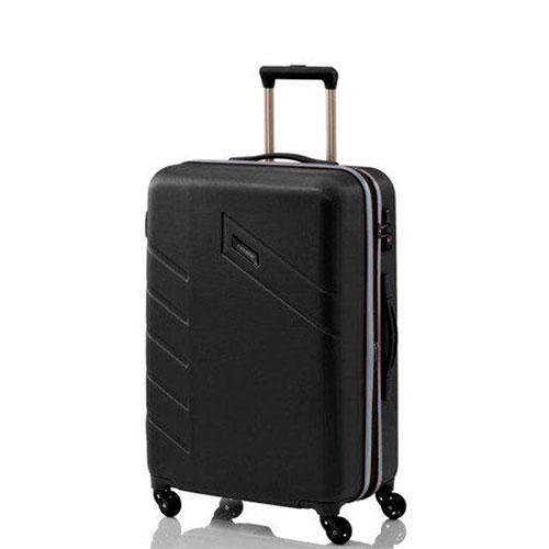 Большой черный чемодан Travelite Vector 51x77x28см, фото