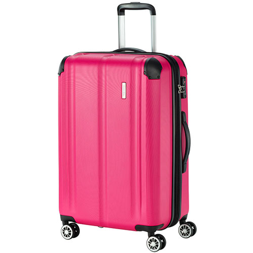 Чемодан розовый Travelite City боьшой 44x68x28см, фото