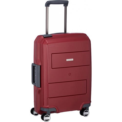 Чемодан красного цвета 39x55x20см Travelite Makro с телескопической ручкой, фото