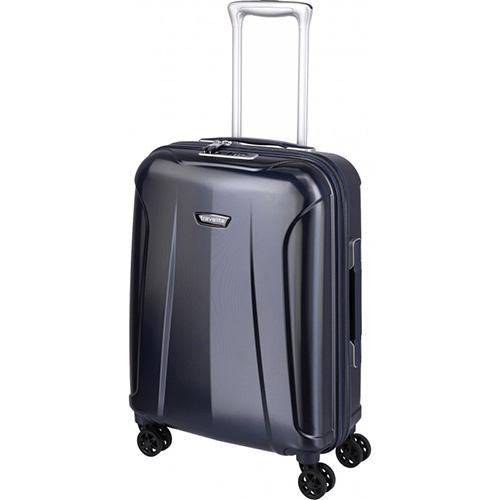 Малый синий чемодан 40x55x20см Travelite Elbe с боковой ручкой, фото