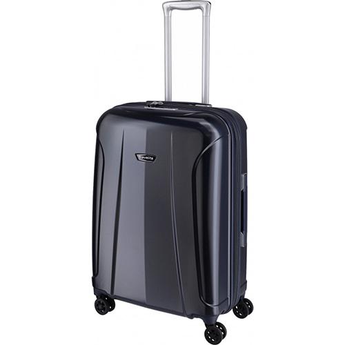 Дорожный чемодан на колесах 46x66x26см Travelite Elbe синего цвета, фото