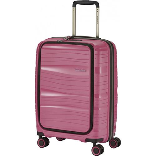 Чемодан с отделением для ноутбука 39x55x23см Travelite Motion розового цвета, фото