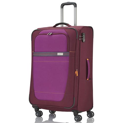 Большой красный чемодан 77x47х31-35см Travelite Meteor с функцией расширения, фото