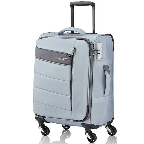 366ab97389ed Текстильный серый чемодан 54x37х20см Travelite Kite с функцией расширения,  фото