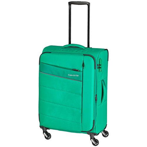 Чемодан Travelite Kite зеленого цвета 42x64x27/31см на колесах, фото
