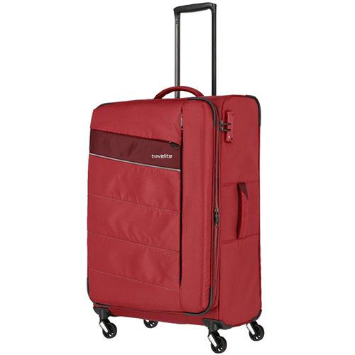 Большой чемодан 47x75x29-33см Travelite Kite красного цвета, фото