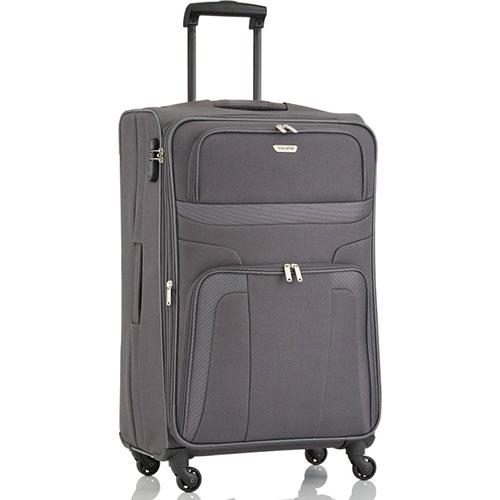 Большой чемодан 47x75x29см Travelite Orlando серого цвета, фото
