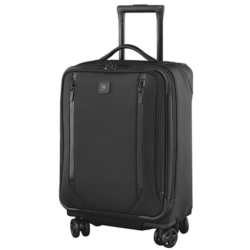 Черный чемодан маленького размера 56х40х25-29см Victorinox Lexicon 2.0 с функцией расширения, фото
