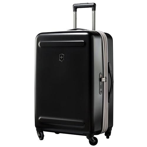 Черный чемодан 67х45х30см Victorinox Etherius среднего размера на молнии, фото
