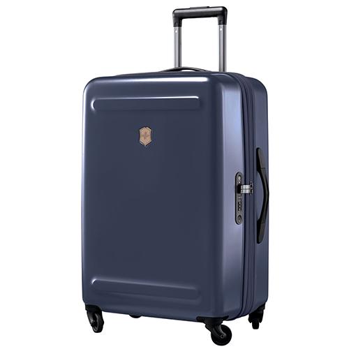 Среднего размера синий чемодан 67х45х30-34см Victorinox Etherius Deep Lake для путешествий, фото