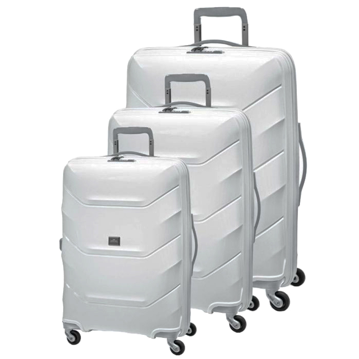 Набор чемоданов March Vienna с корпусом белого цвета
