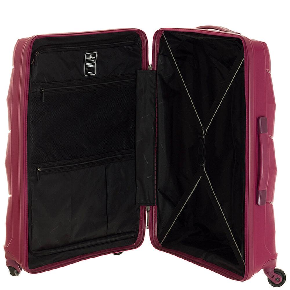 Малиновый чемодан среднего размера 66x47x26см March Vienna для путешествий