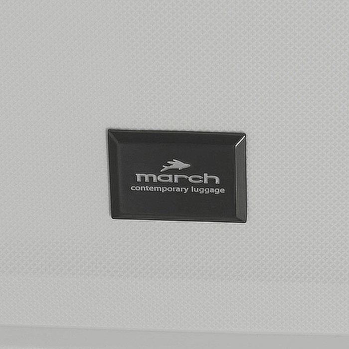 Чемодан маленького размера 55х39х22см March Vienna в белом цвете