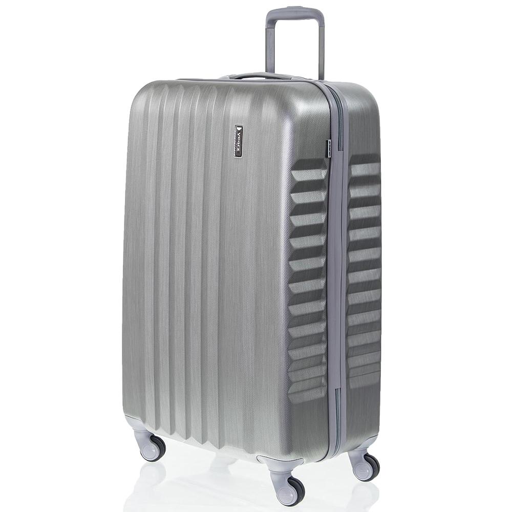 Больной чемодан 75х30х47см March Ribbon цвета металл для путешествий