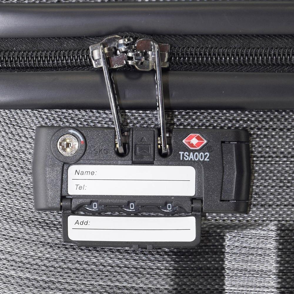 Черный маленький чемодан 55х35х20см March Ribbon с корпусом из поликарбоната с пластиком ABS