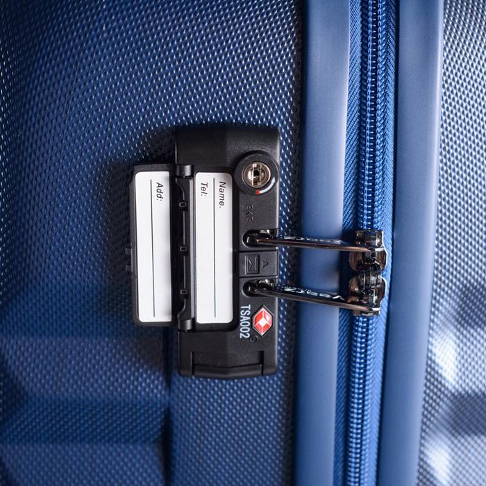 Маленький синий чемодан 55х35х20см March Ribbon с замком блокировки TSA