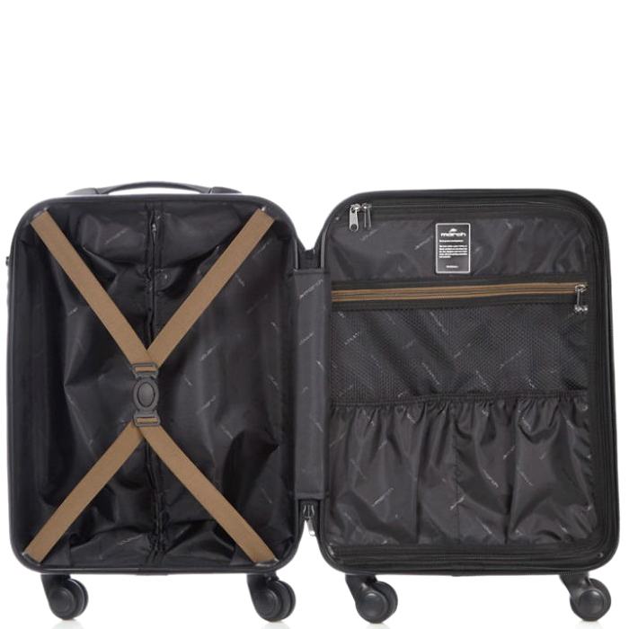Маленький чемодан бронзового цвета 55х35х20см March Ribbon на молнии