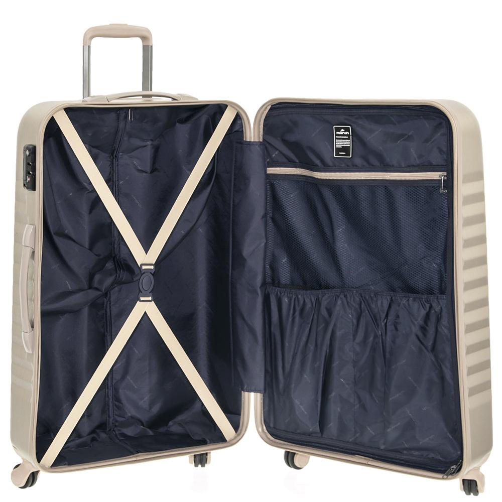 Набор чемоданов March Ribbon с корпусом в золотом цвете