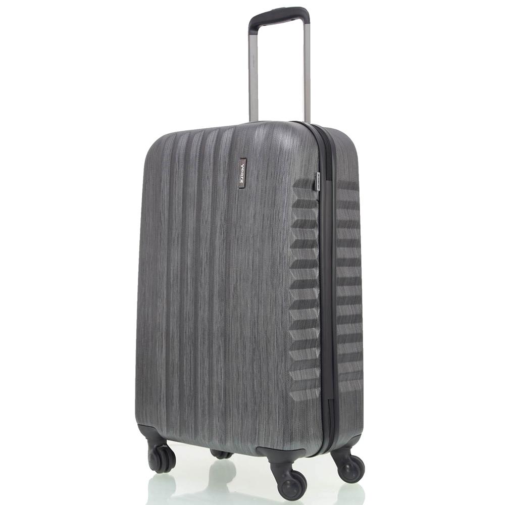 Набор чемоданов черного цвета March Ribbon с 4х колесной системой