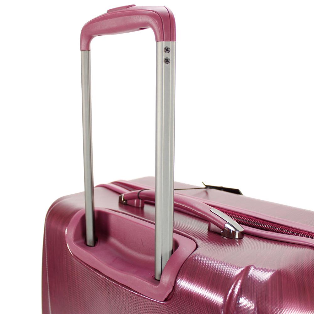 Чемодан цвета бургунди 65x47x26см March New Carat среднего размера с замком блокировки TSA
