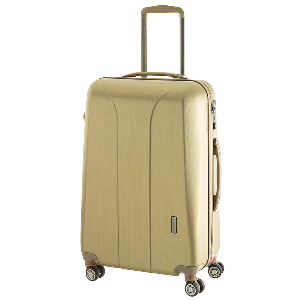 Чемодан среднего размера 65x47x26см March New Carat в золотом цвете для путешествий
