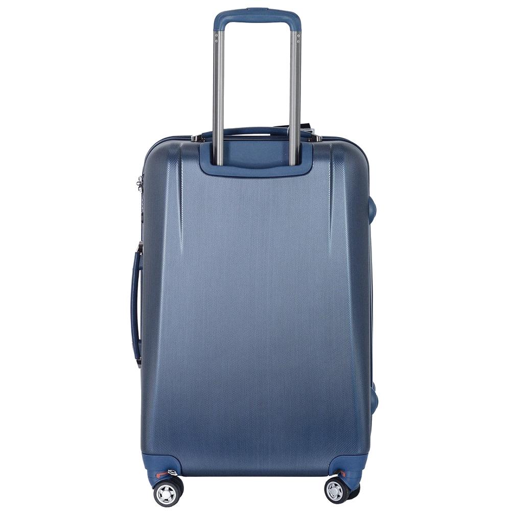 Синий среднего размера чемодан 65x47x26см March New Carat с матовым покрытием