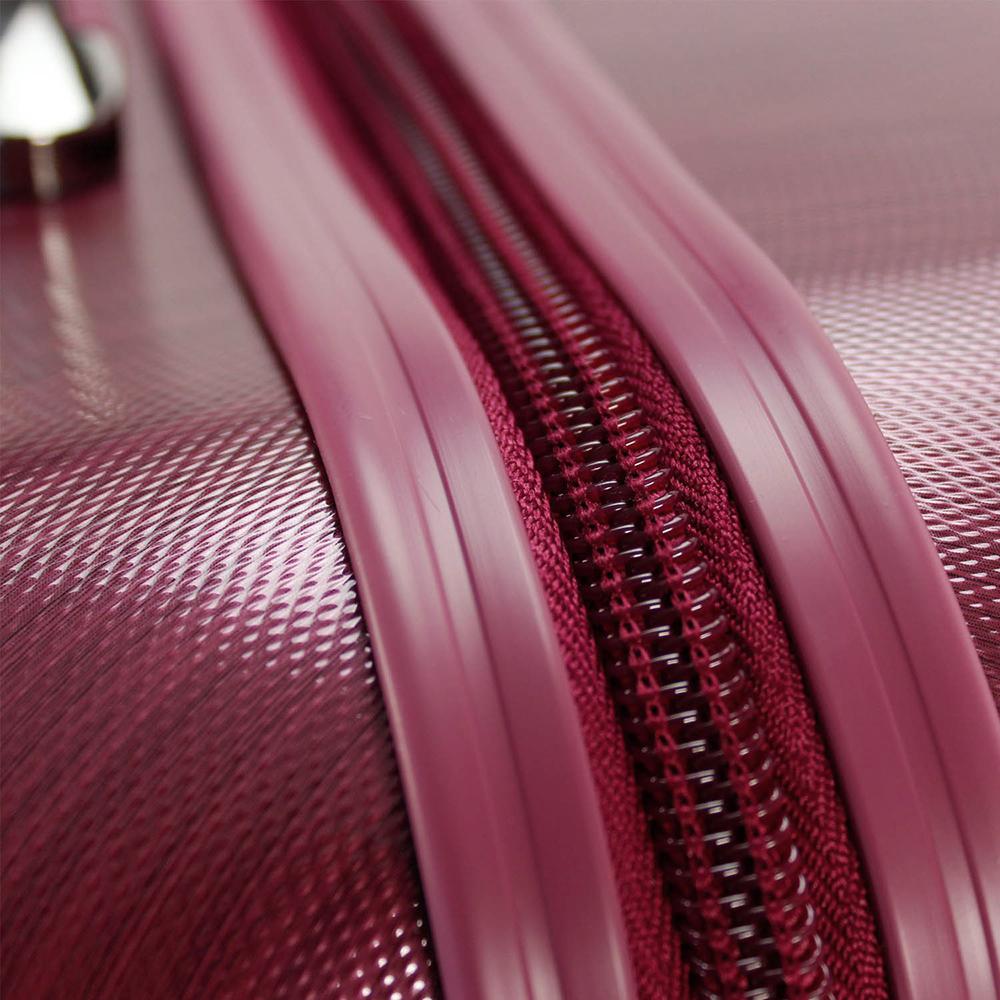 Набор чемоданов цвета бургунди March New Carat с матовым покрытием