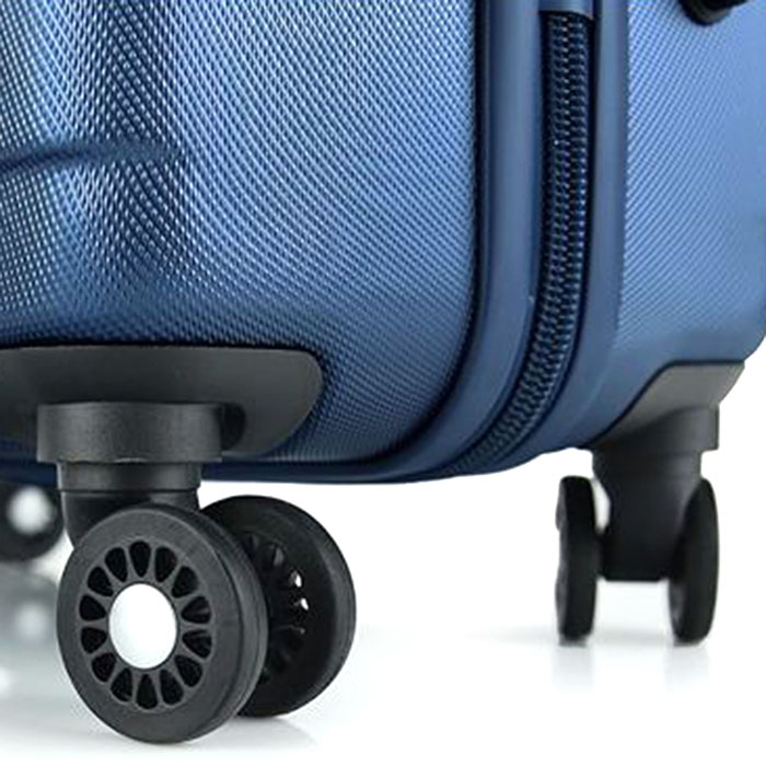 Набор чемоданов March Bumper синего цвета на молнии