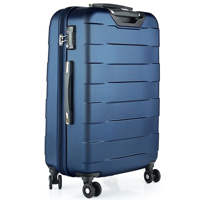 Чемодан синего цвета 76х30х48см March Bumper большого размера на молнии