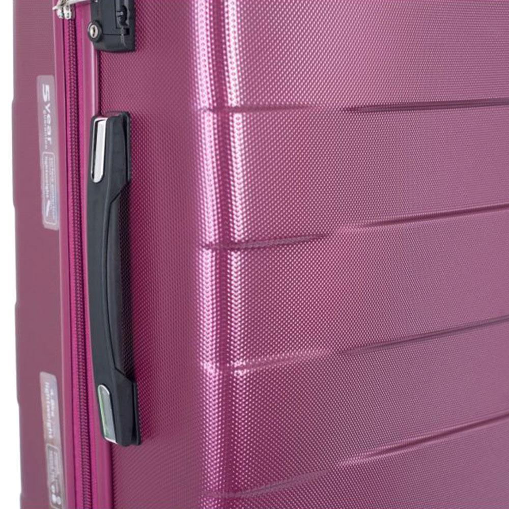 Малиновый чемодан 66x42x26см March Bumper среднего размера для путешествий