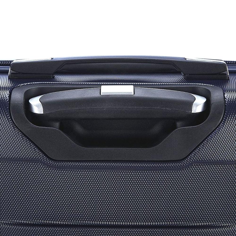 Среднего размера синий чемодан 66x42x26см March Bumper с телескопической ручкой