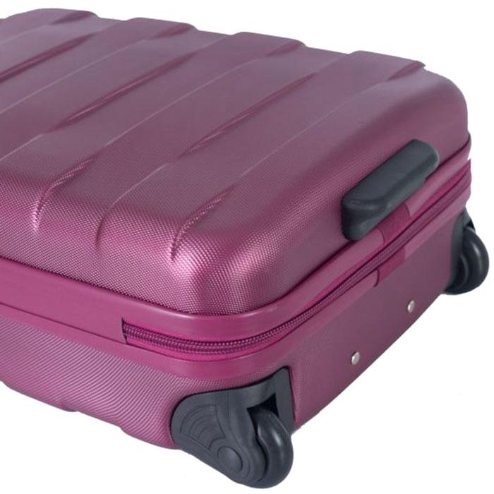 Маленький малиновый чемодан 55х35х20см March Bumper с замком блокировки TSA