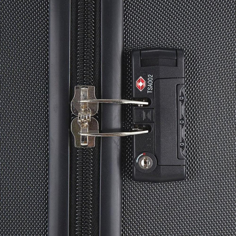 Маленький черный чемодан 55х35х20см March Bumper с 2х колесной системой