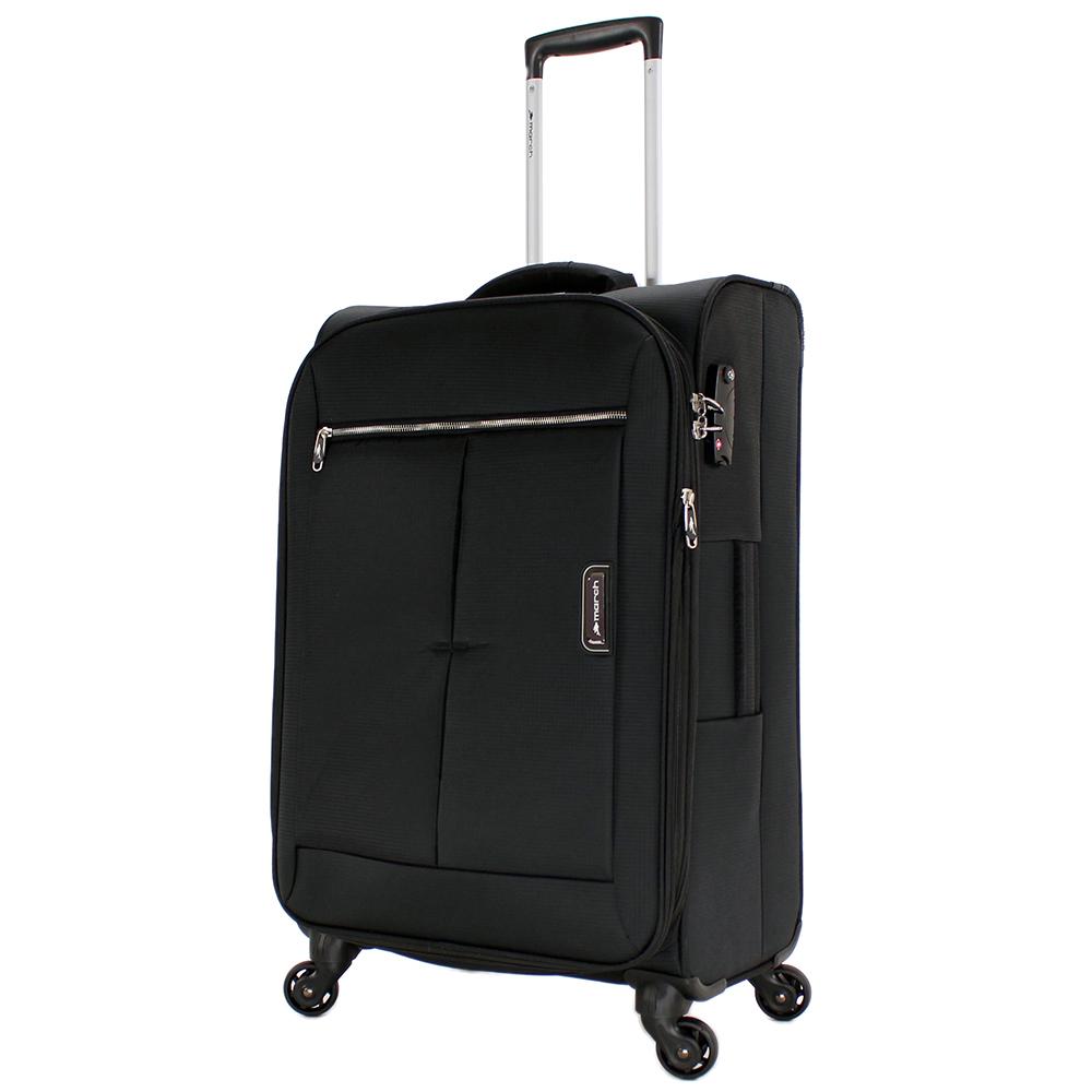 Набор черных чемоданов March Quash на молнии