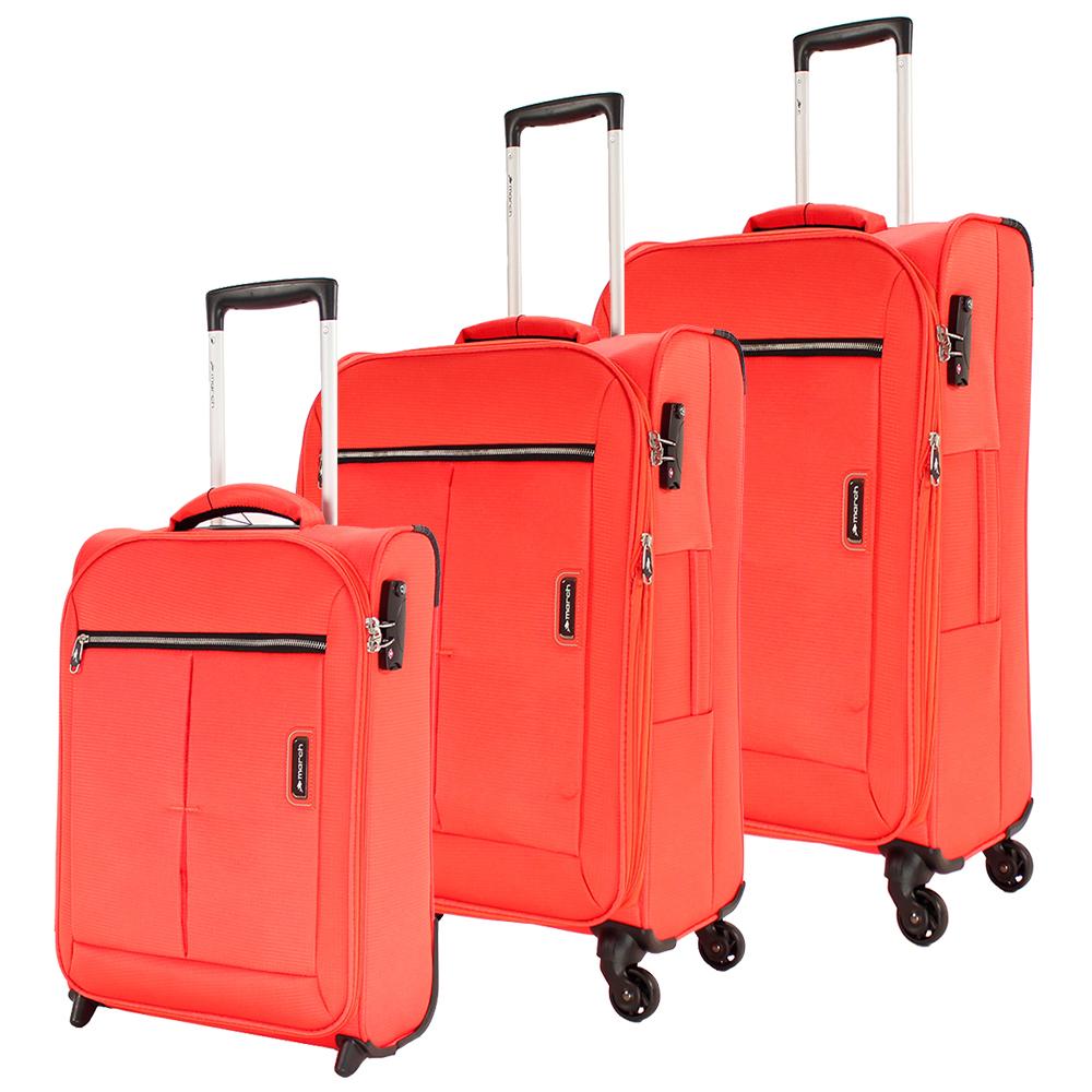 Набор чемоданов March Quash с корпусом оранжевого цвета