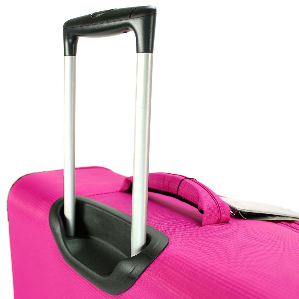 Набор чемоданов цвета фуксия March Quash с телескопической ручкой
