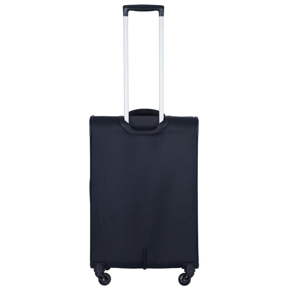 Черный чемодан среднего размера 67x42x26см March Quash с функцией расширения