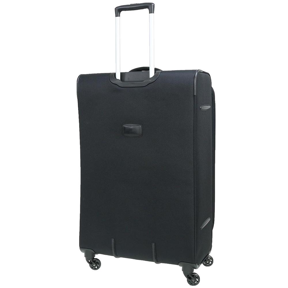 Большой черный чемодан 77х30х47см March Carter SE с замком блокировки TSA
