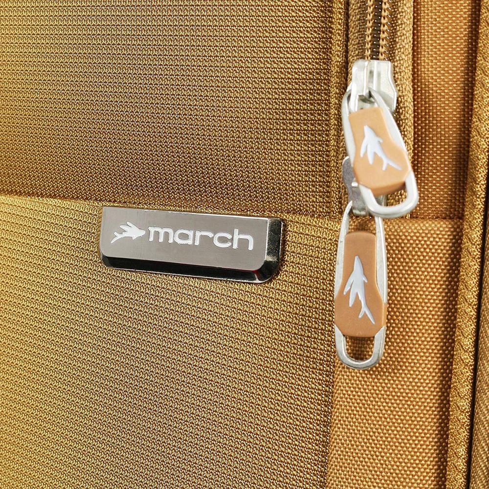 Большой чемодан 77х30х47см March Carter SE золотого цвета на молнии