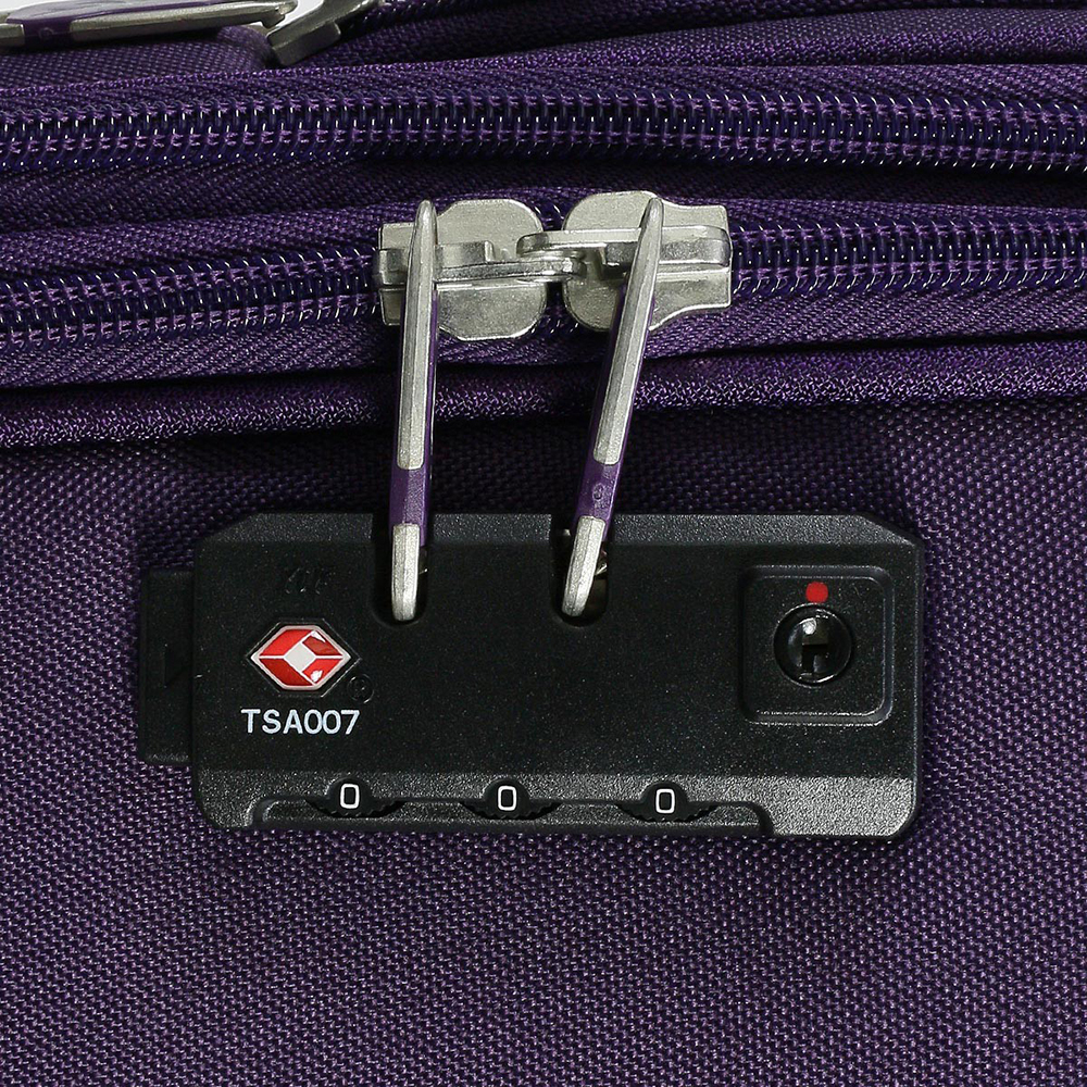 Среднего размера фиолетовый чемодан 67x42x27см March Carter SE с функцией расширения