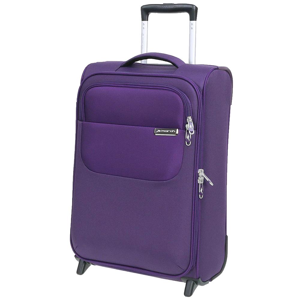 Чемодан маленького размера 55х35х20см March Carter SE в фиолетовом цвете