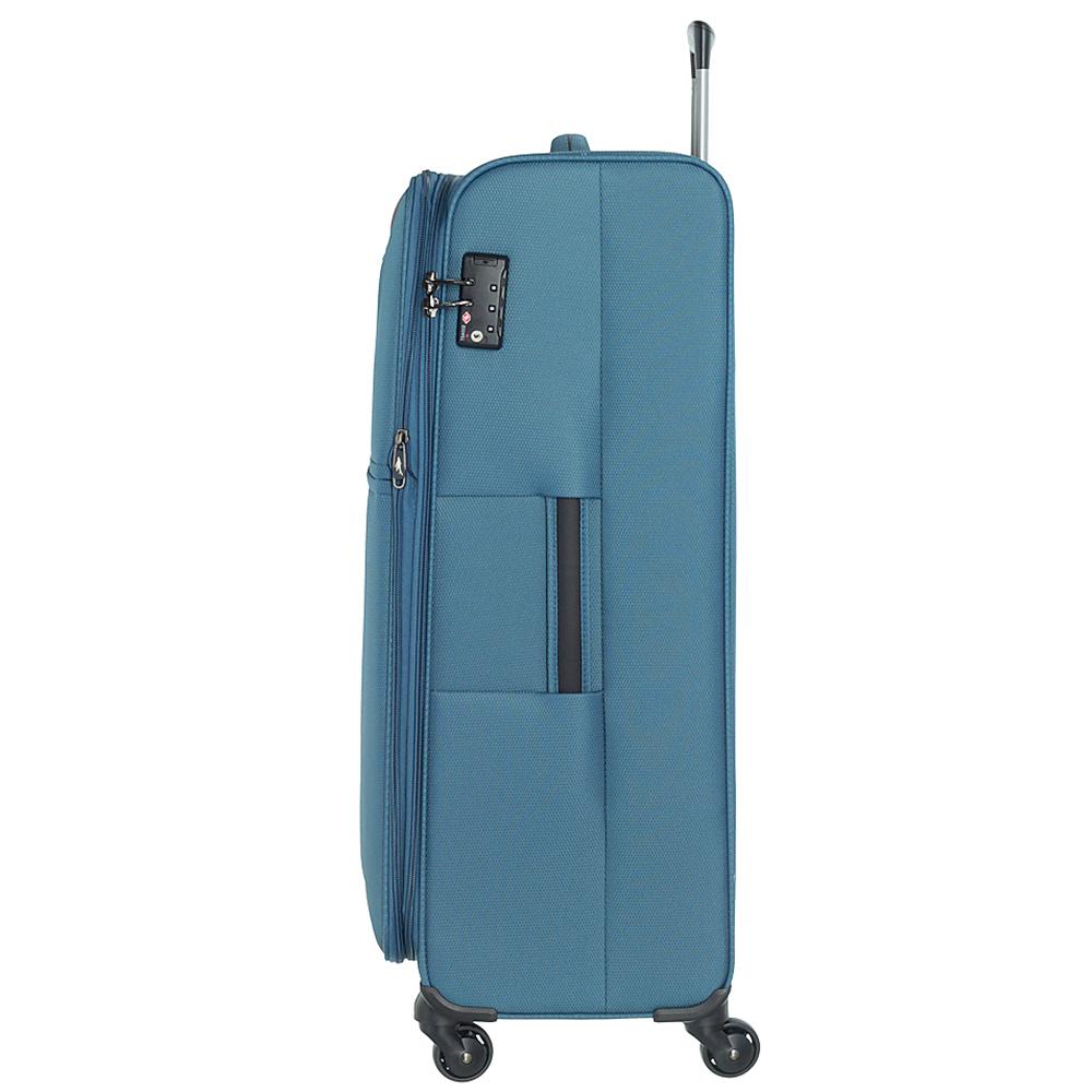Набор чемоданов March Flybird в голубом цвете с корпусом из нейлона