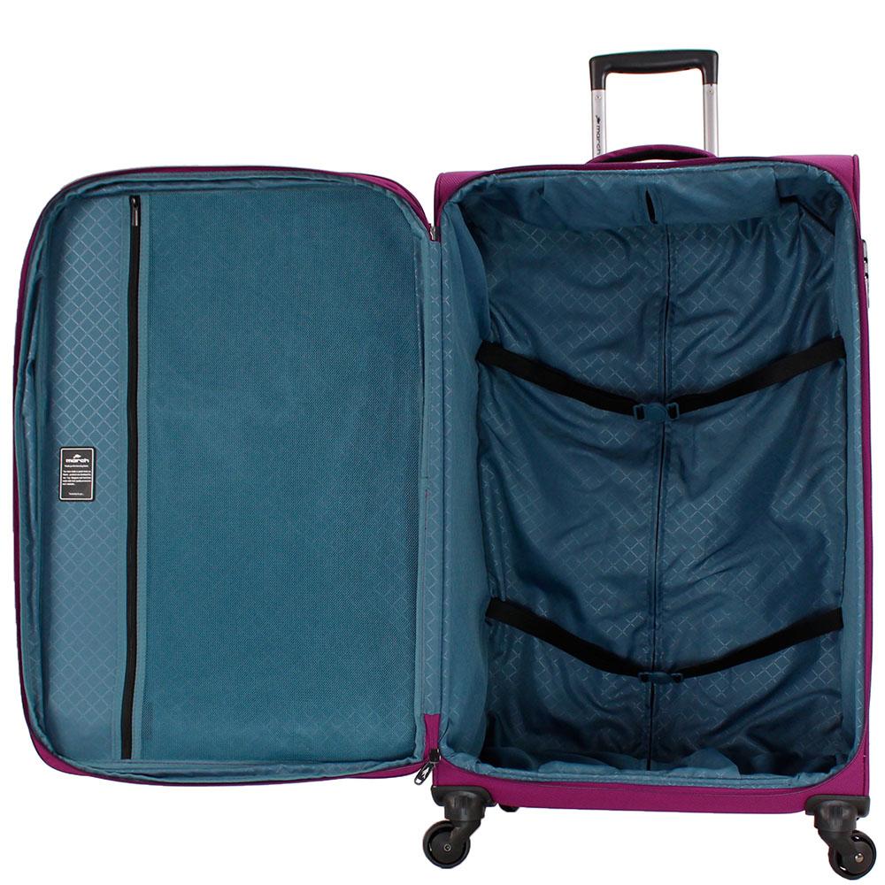 Большой фиолетовый чемодан 77х29х47см March Flybird с корпусом из нейлона