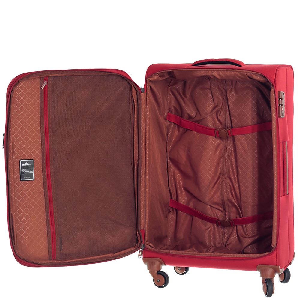 Среднего размера чемодан 67x42x26см March Flybird красного цвета для путешествий