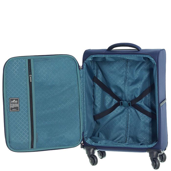 Маленький синий чемодан 55х35х20см March Flybird с корпусом из нейлона