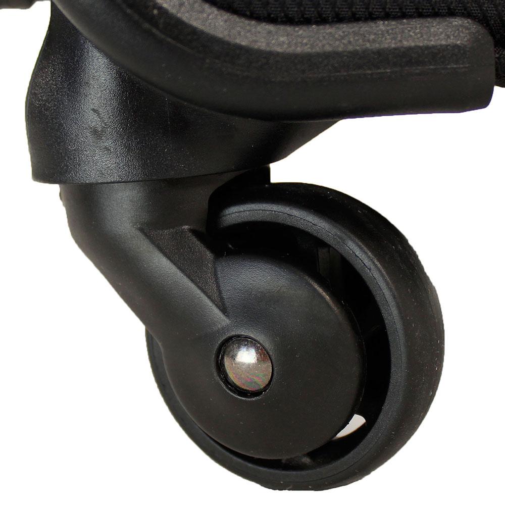 Маленький черный чемодан 55х35х20см March Flybird с корпусом из нейлона