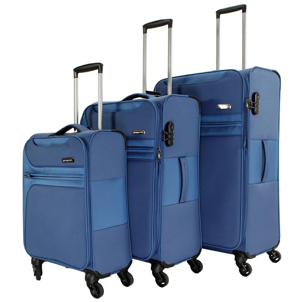 Набор чемоданов синего цвета March Focus для путешествий