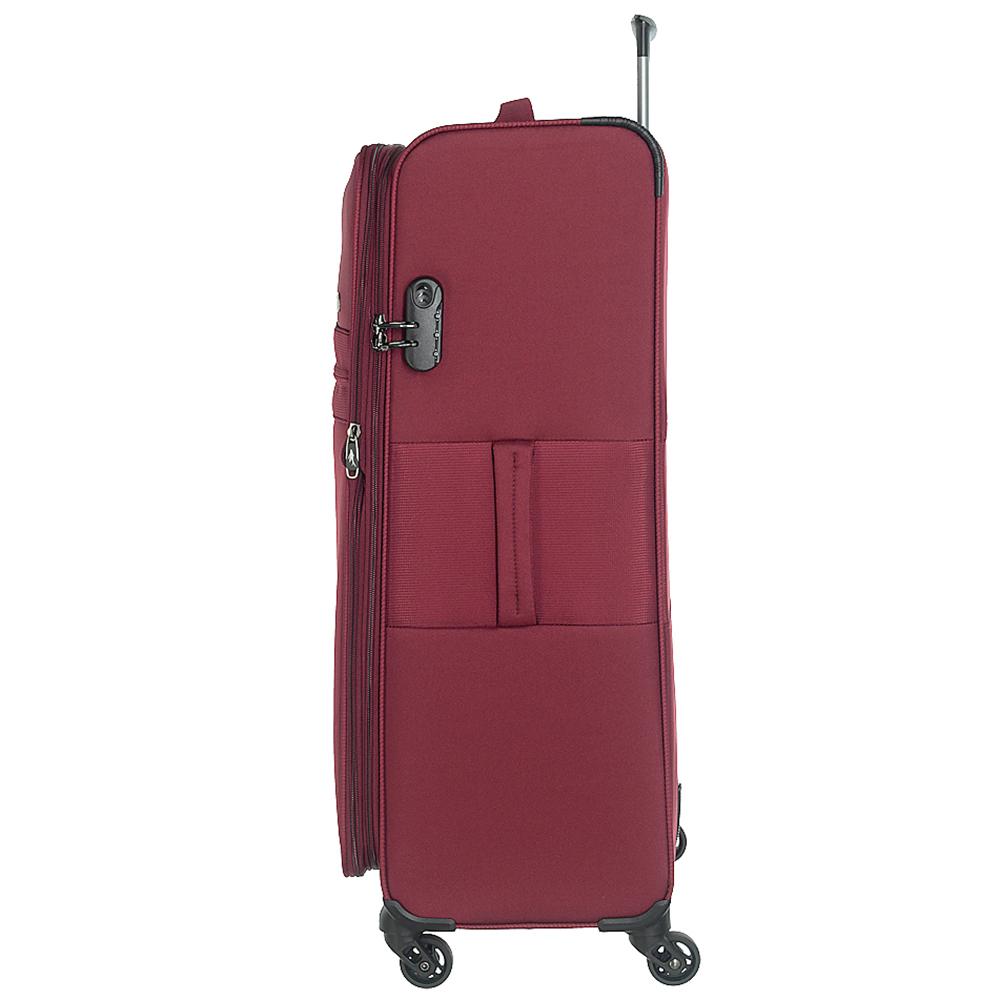 Бордовый большой чемодан 77х47х29см March Focus с замком блокировки TSA