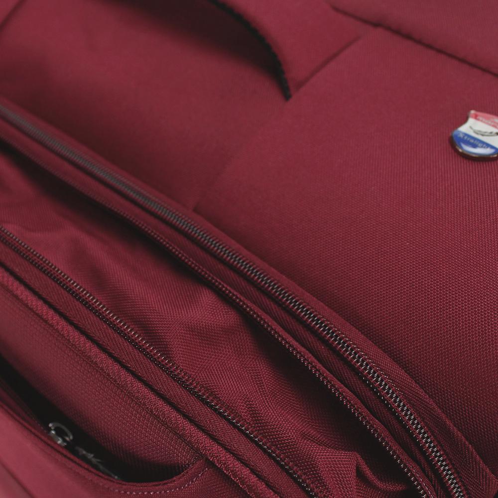 Бордовый чемодан 67x43x26см March Focus среднего размера с функцией расширения
